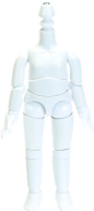 [11BD-D01G] 11cm Obitsu Body with Magnet (Pure White)